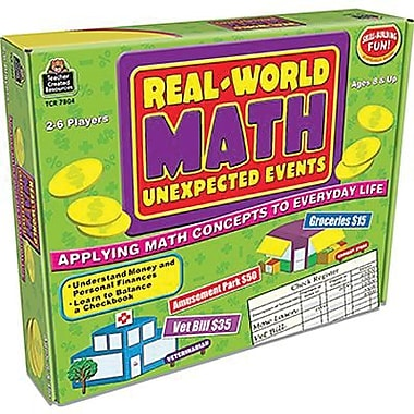 Teacher Created Resources® Real World Math Of Unexpected Events Game, Grades 3rd - 5th
