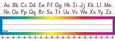 Teacher's Friend® pre-school - 1st Grades Name Plate, Alphabet-Number Line Standard