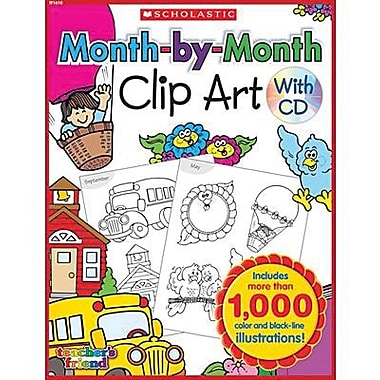 Scholastic Teacher's Friend Month-By-Month Clip Art Book, Kindergarten - 5 (TF-1610)