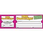 Scholastic Free Homework Night Ticket Awards, 100 ct. (TF-1617)