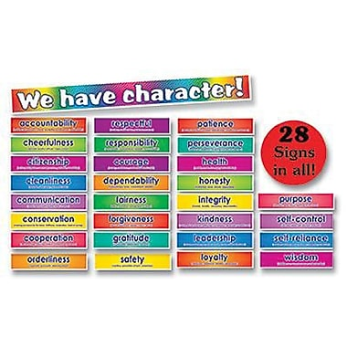 Scholastic Teacher's Friend Bulletin Board Set, Character Signs (TF-3086)