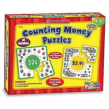 Scholastic Teacher's Friend Counting Money Learning Puzzles, Grade Pre Kindergarten - 5, 5/Pack (TF-7158)