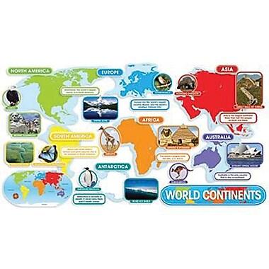 Teacher's Friend® Bulletin Board Set, World Continents