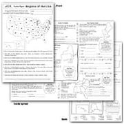 Milliken & Lorenz Educational Press® Poster Paper, Regions of The USA