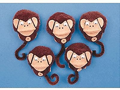 5-Character Mitt Set, 5 Little Monkeys