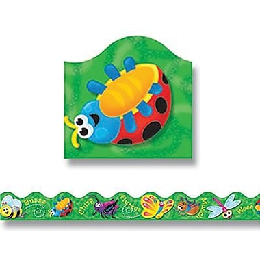 Trend Enterprises® Pre-kindergarten - 9th Grades Scalloped Terrific Trimmer, Cartoon Bugs