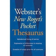 "Houghton Mifflin® ""Webster's New Roget's Pocket Thesaurus"", Grades 7th - 12th (AH9780618953202)"