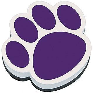 Ashley® Magnetic Whiteboard Eraser, Purple Paw (ASH10005)