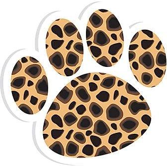 Ashley® Magnetic Whiteboard Eraser, Cheetah Paw, 6 EA/BD