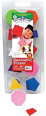 Center Enterprises® Ready2Learn™ Giant Stamper, Geometric Shape, 10/ST, 2 ST/BD
