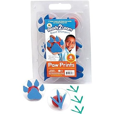 Center Enterprises® Ready2Learn™ Giant Stamper, Paw Prints, 6/Pack (CE-6761)