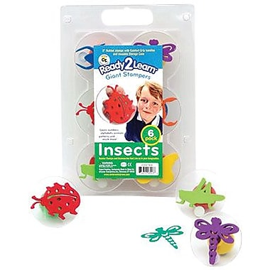 Center Enterprises® Ready2Learn™ Giant Stamper, Insects, 6/Pack (CE-6784)