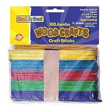 Chenille Craft® Bright Hues Jumbo Craft Sticks