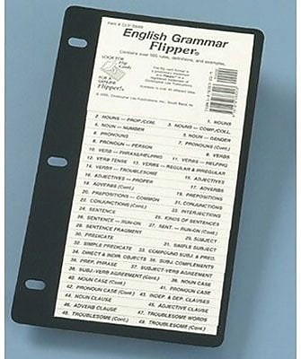 Flip Up Study Guide, English Grammar Terminology