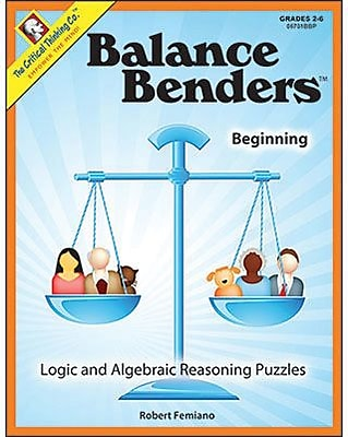 Critical Thinking Press™ Beginning Level Balance Benders Book, Grades 2nd - 6th (CTB06701BBP)