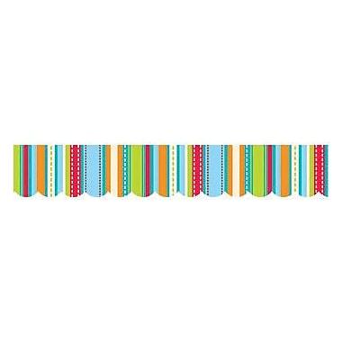Creative Teaching Press Scalloped Stripes & Stitches Border, 35' x 2.75