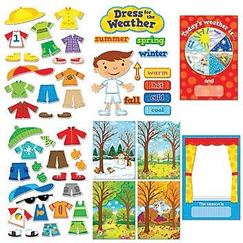 Creative Teaching Press™ Bulletin Board Sets, Dress For The Weather