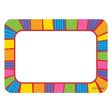 Creative Teaching Press Infant - 12 Grade Name Tag, Playful Patterns, 36/pack (CTP4512)