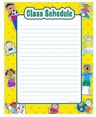 Creative Teaching Press™ Class Schedule Chart, Grades pre-kindergarten - 6th