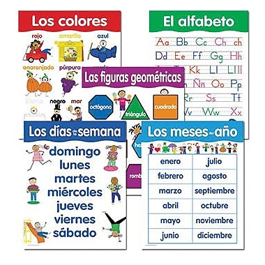 Creative Teaching Press Spanish Basic Skills Chart, 5/Pack (CTP5792)
