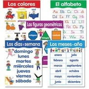Creative Teaching Press™ Spanish Basic Skills, 5-Chart Pack