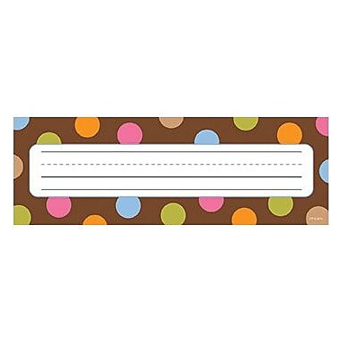 Creative Teaching Press™ Infant - 6th Grades Name Plate, Dots On Chocolate®