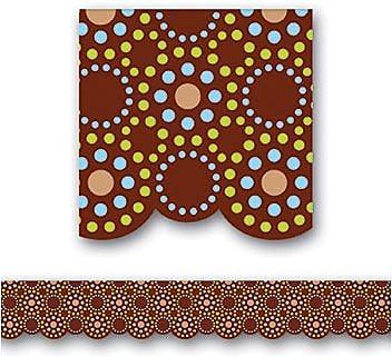 Creative Teaching Press™ Scalloped Bulletin Board Border, Lots of Dots Brown, Pre-School - 12th Grades (CTP6802)