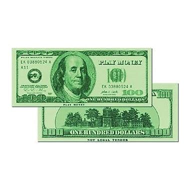 Learning Advantage™ $100 Bills Set Money, 50 Bills, Grades Kindergarten+