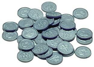 Money, Learning Advantage™ Plastic Coins 100 Dimes