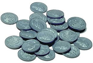 Money, Learning Advantage™ Plastic Coins 100 Quarters