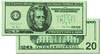 Learning Advantage™ Money $20 Bills, 100/Set