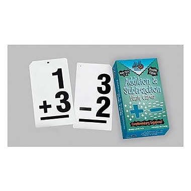 Learning Advantage Vertical Flash Cards Addition And Subtraction Set, Grades Kindergarten - 3rd