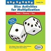 Dice Activities for Multiplication Resource Book, Grades 3-6