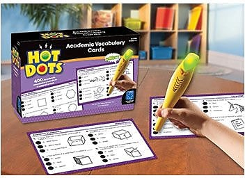 Educational Insights Hot Dots Academic Vocabulary Card Sets, Grades 1-3