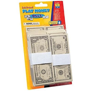 Educational Insights Play Money Bills, 600/Pack (EI-3057)