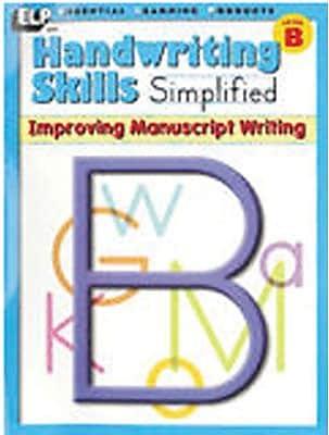 Handwriting Skills Simplified, Improving Manuscript Writing
