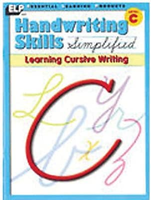 Essential Learning™ Handwriting Skills Simplified - Learning Cursive Writing Book, 3 EA/BD