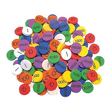 Essential Learning Place Value Disks, 140/Pack