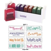 "Early Childhood Resources® Self-Inking Teacher Stamps With Stand, 2""(W)"