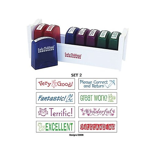 Early Childhood Resourceselr0361 Self Inking Teacher Stamps With Stand Https Www Staples 3p S7 Is