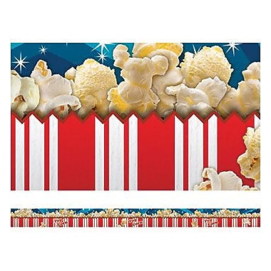 Edupress® pre-school - 12th Grades Straight Layered-Look Border, Popcorn