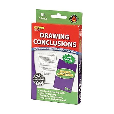 Edupress® Reading Comprehension Practice Card, Drawing Conclusions, Reading Level 5.0 - 6.5