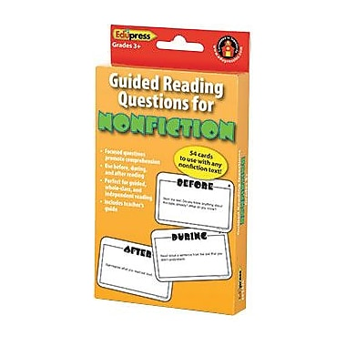 Edupress Guided Reading Questions for Nonfiction Card, Grade 3+ (EP-3428)