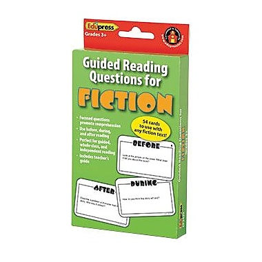 Edupress E3W-EP3429 Guided Reading Questions for Fiction Card, Grade 3+