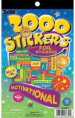 2000 Motivational Sticker Book