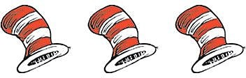 Dr. Seuss The Cats Hat Theme Stickers