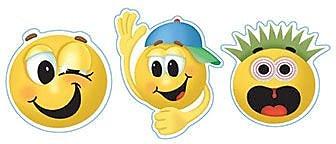 Eureka® Flat Stickers, Emoticons