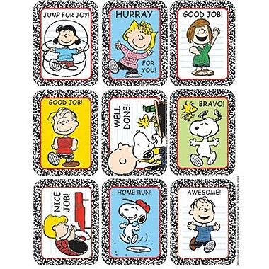 Eureka Stickers, Peanuts Characters, 432/Pack (EU-655111)