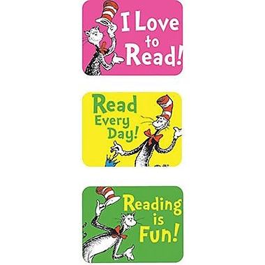 Eureka Stickers, Dr.seuss Cat In The Hat Reading Success, 1200/Pack (EU-658022)