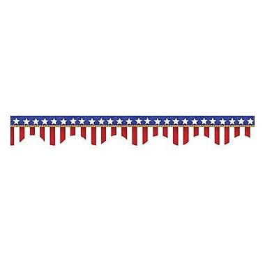Eureka Pre School - 12th Grades Scalloped Deco Trim, American Flags Electoral, 96/Pack (EU-845031)